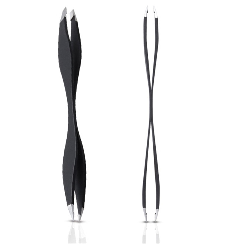 3 Pcs Lady Stainless Steel Double Ends Slant Makeup  Eyebrow Tweezer Hair Removal