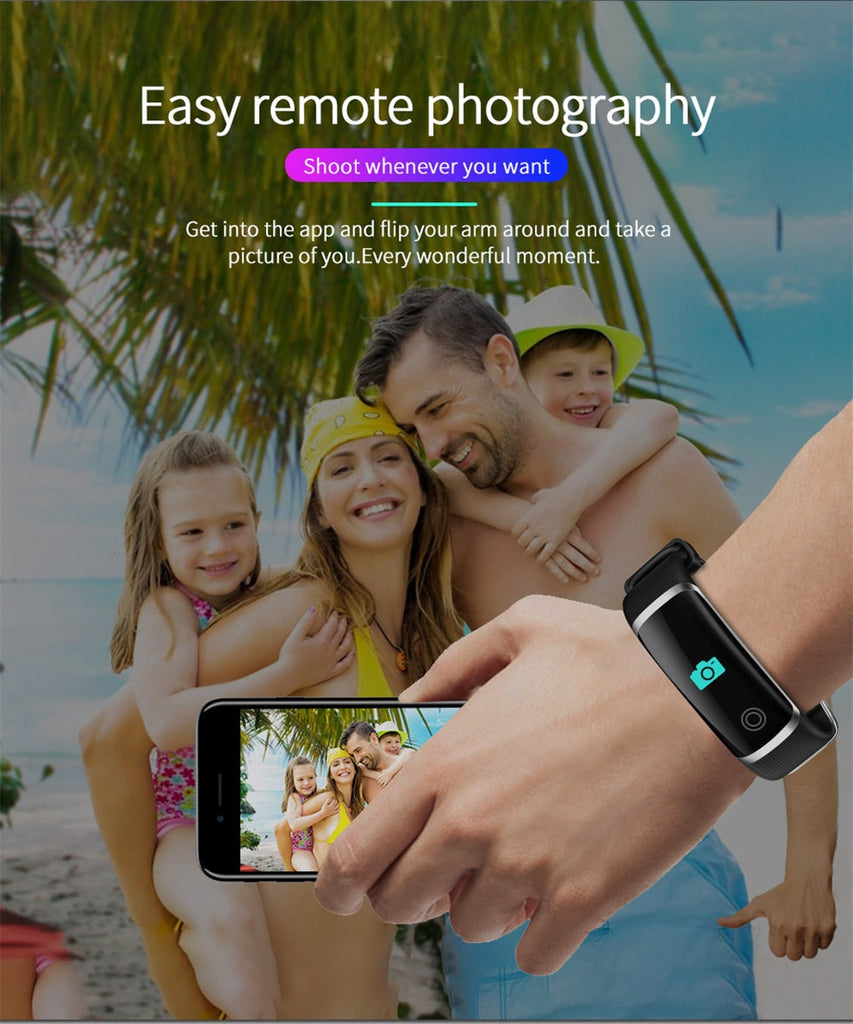 M4 Smart Bracelet Waterproof Blood Pressure Bluetooth Call Fitness Tracker Wristband