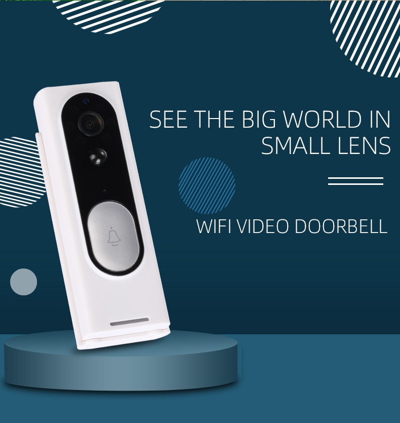 Wireless Video Doorbell Camera HD 720P with  Audio & Speaker Night Vision