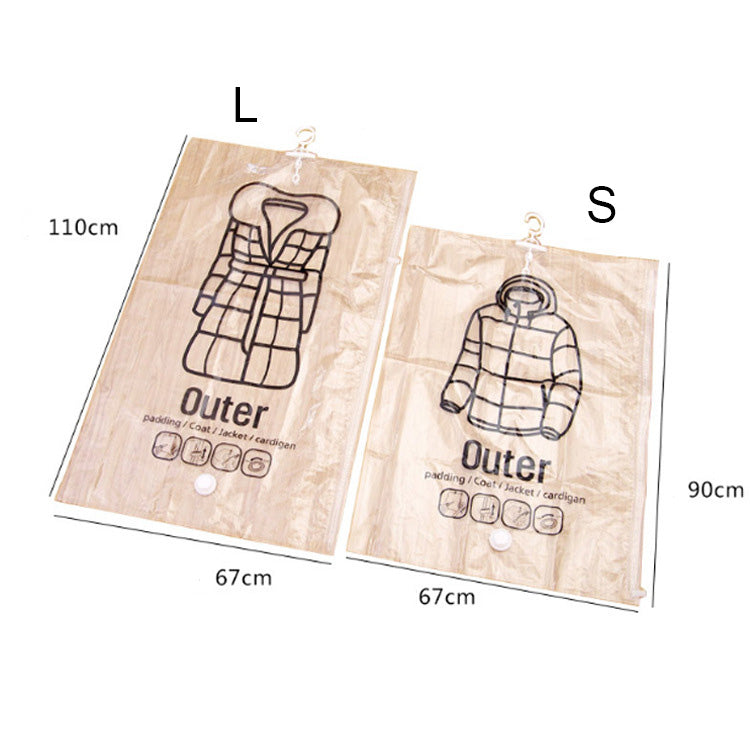 4 Pack Hanging Vacuum Outerwear Storage Bag Space Saving Organizer Bags