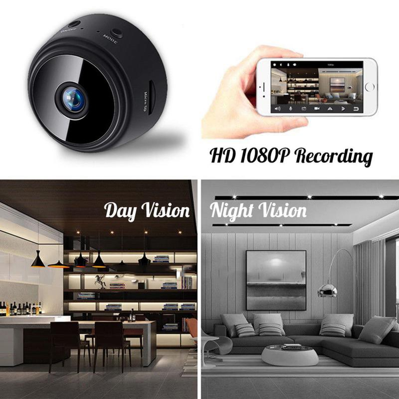 1080P Mini Wireless Wifi Camera Home Security Night Vision Remote Motion Detection Video Camera