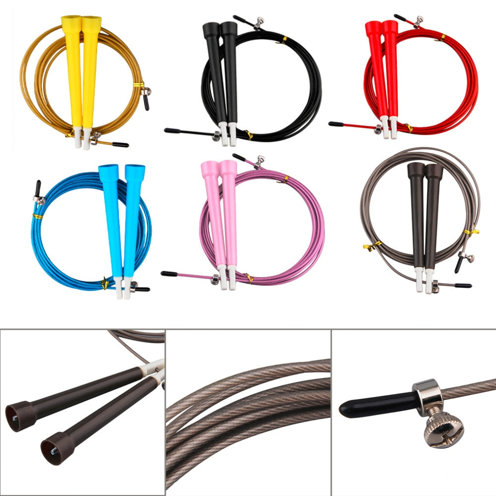 Adjustable Skipping Rope Jump Rope Speed Rope Cables