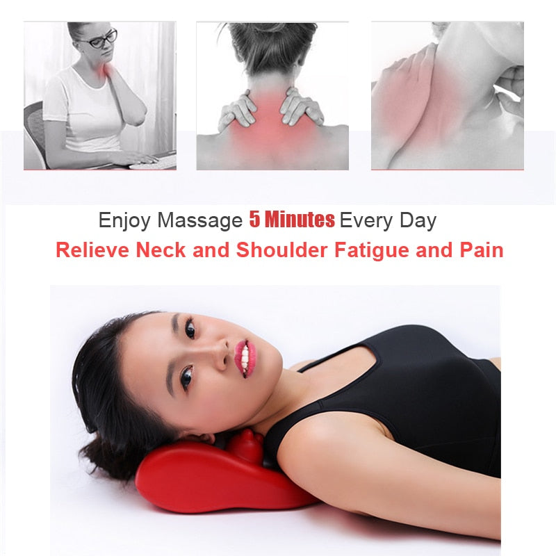 Neck Relaxation Pillow Pain Relief 14 Trigger Points Anti fatigue Massager Pillow