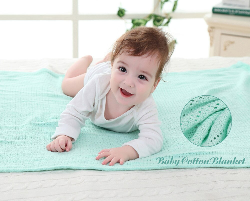 Baby Soft Cotton Cellular Blanket 80x110cm