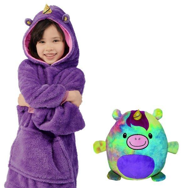 Kids Pets Hoodie Warm Winter Fleece Blanket