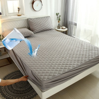 Waterproof Plush Thicken Quilted Mattress Cover Protector