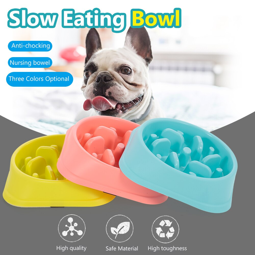 Portable Slow Eating Pet Bowl Anti Choking Dog Feeder Bowl