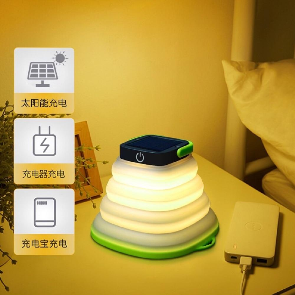 Solar Light LED Camping Lantern Portable Flashlight For Hiking Tent Lamp