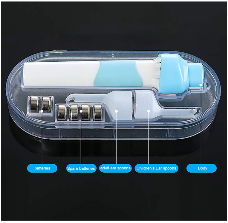 Electric LED Light Ear Wax Remover Cleaner Tool Kit