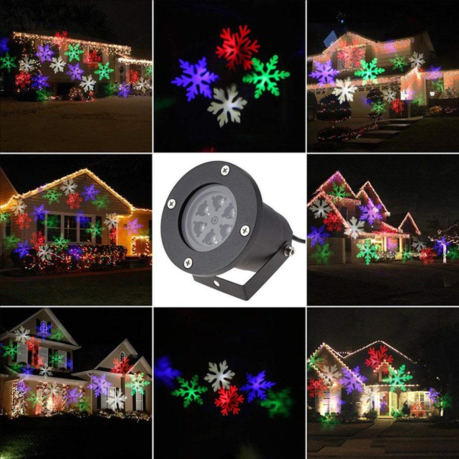 12 Patterns LED Light Laser Projector Landscape Lamp Outdoor Garden - shopmeko