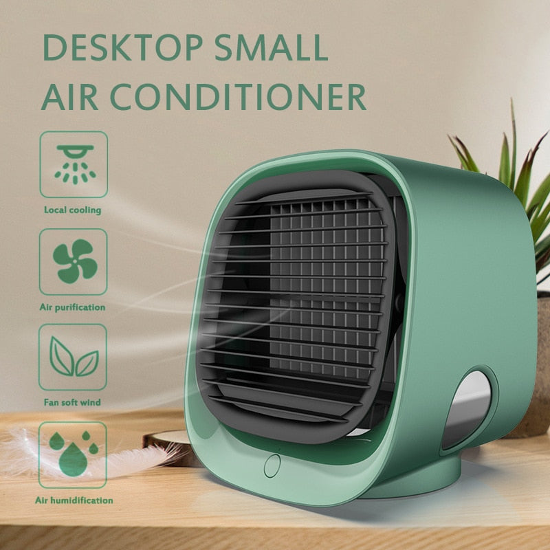 Negative Ion USB Mini Table Air Cooler Conditioner Fan