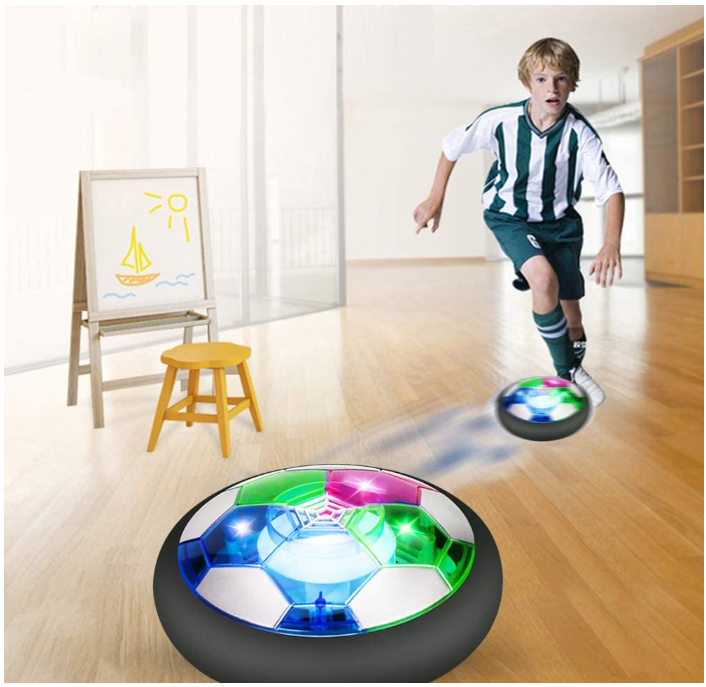 Air Ball Soccer Football with LED Light and Soft Foam Bumpers
