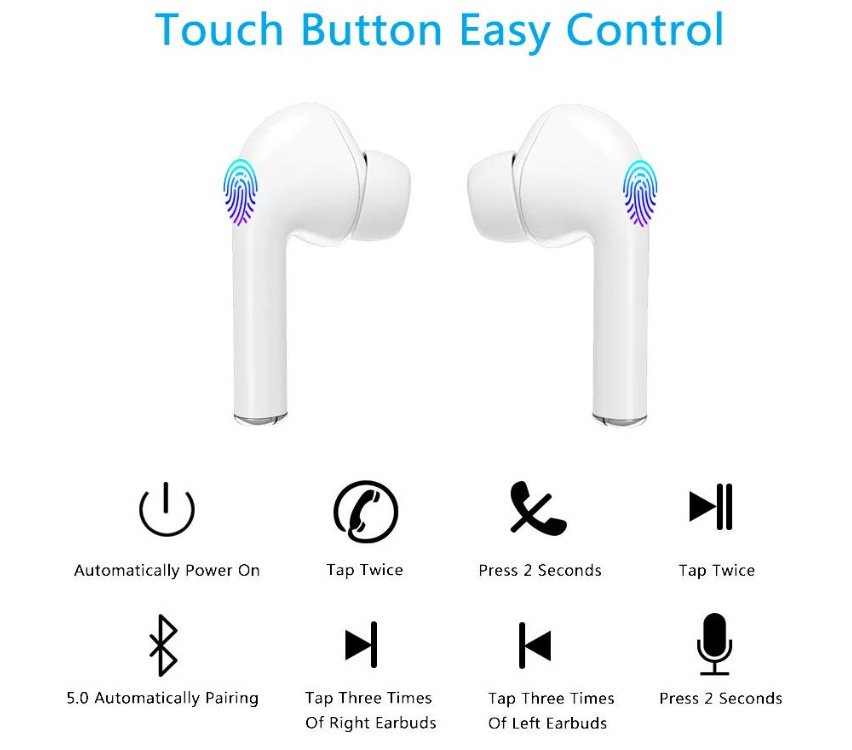 Apple Compatible Airbuds Pro TWS Bluetooth Wireless Earphone Stereo Earbuds with Charging