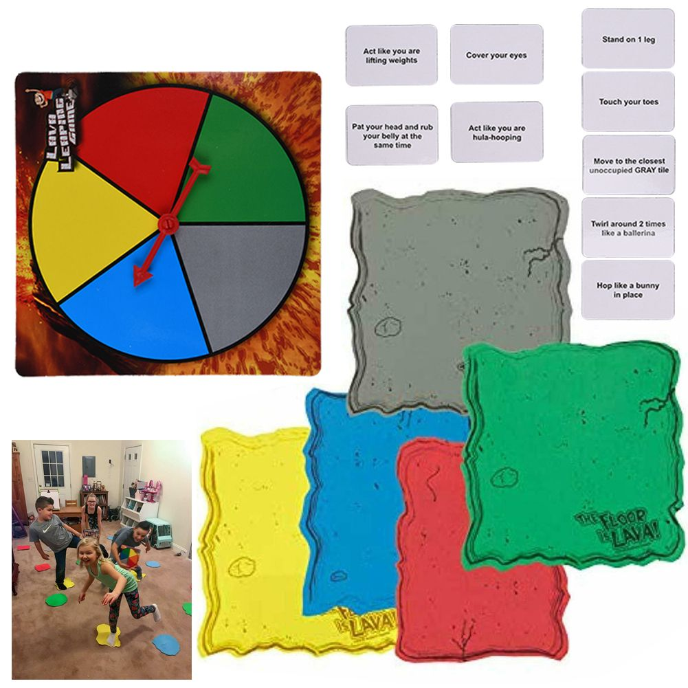 Interactive Board Game The Floor is Lava! for Kids & Adults (Ages 5+)