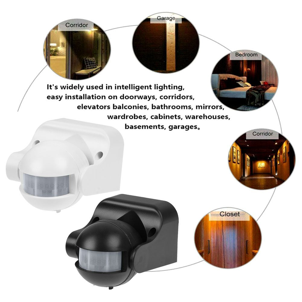 Outdoor Home Security Infrared PIR Sensor Detector Light Switch Motion Wall Mount