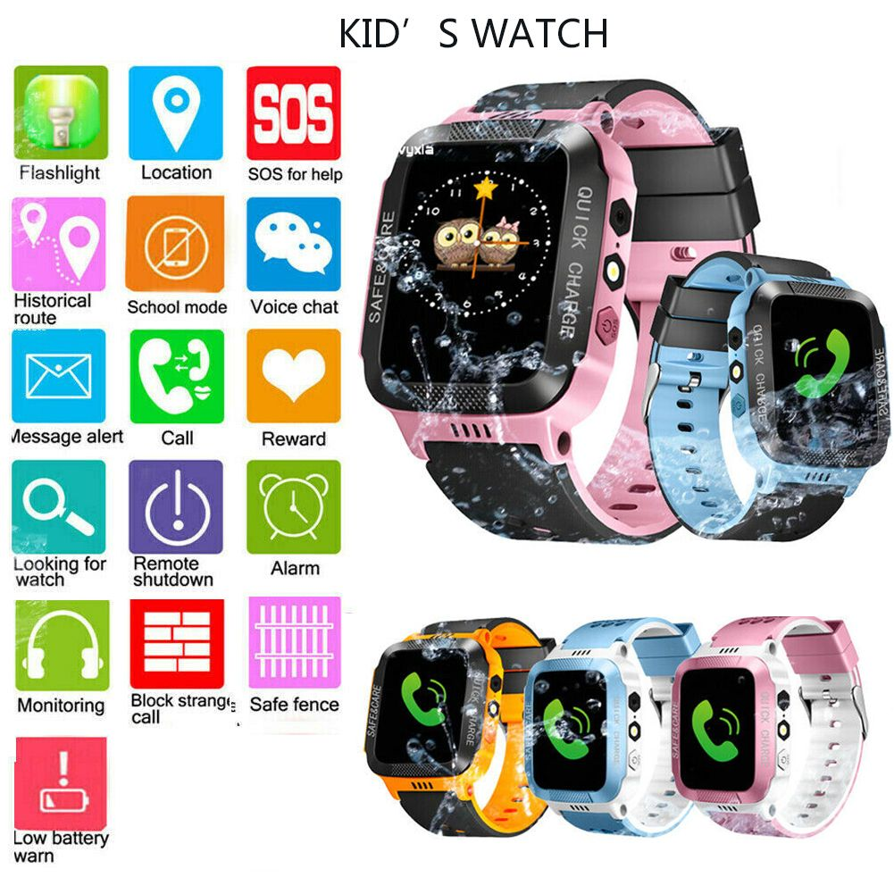 Kids Smart Watch with GPS GSM Locator Touch Screen Tracker SOS
