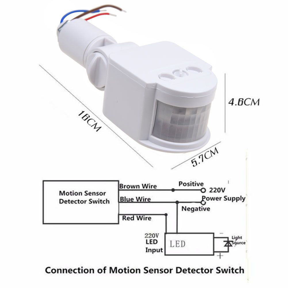 Outdoor LED Security PIR Infrared Motion Sensor Detector 180 ... on