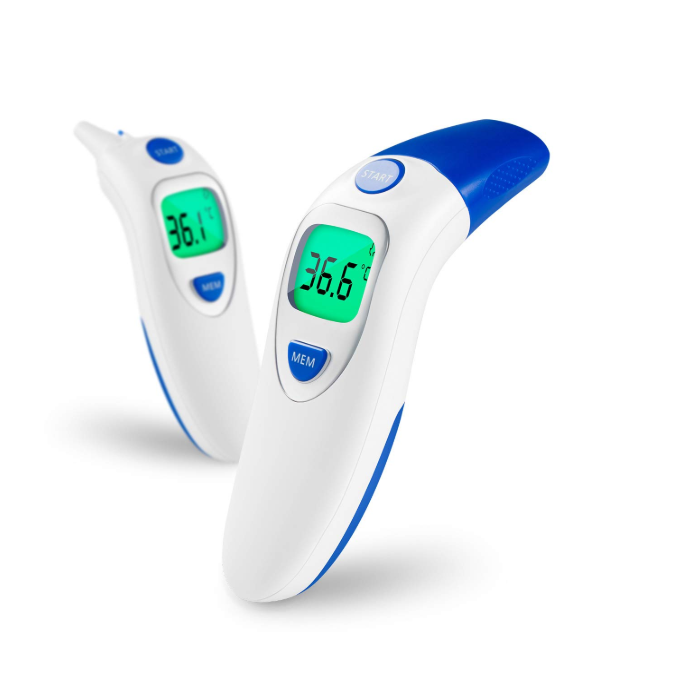 Baby Digital Infrared LCD Forehead and Ear Non-Contact Body Fever Measurement Thermometer