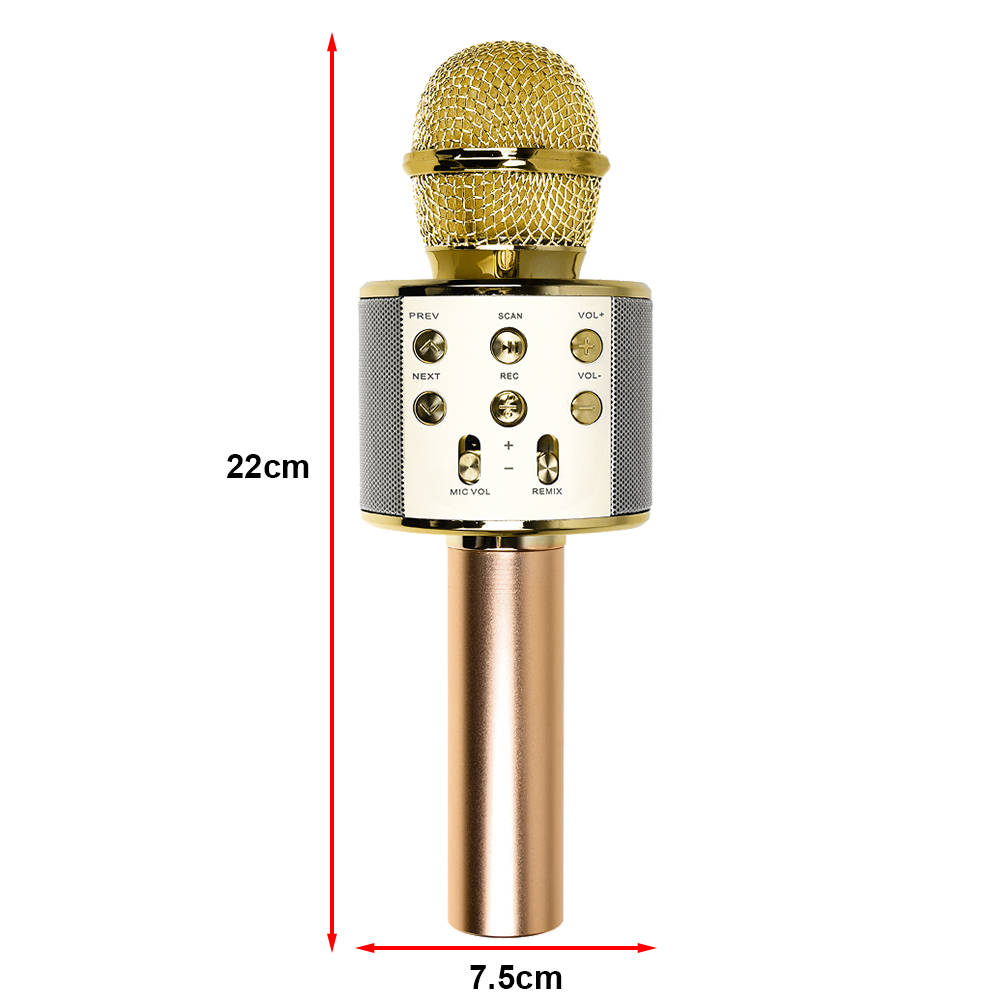 Wireless Karaoke Handheld Microphone USB Player Bluetooth Mic Speaker