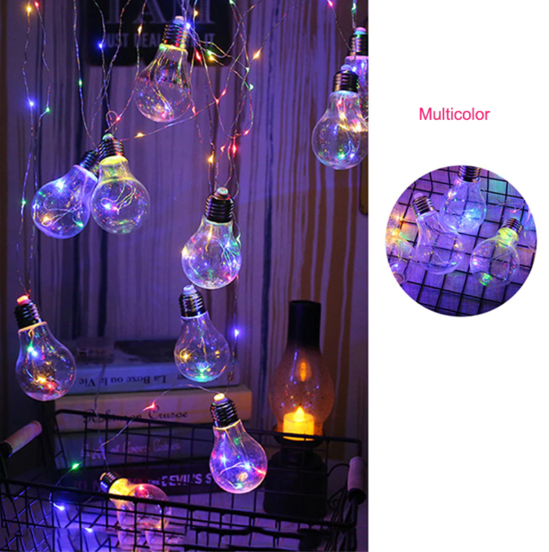 10 String Copper Led Bulbs Retro 4m Fairy Festoon Holiday String Lights