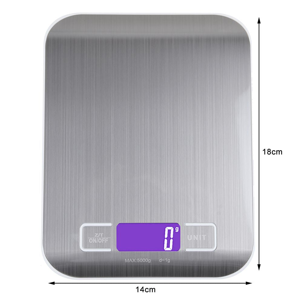 LCD Stainless Kitchen Cooking Food Digital Scale Weight 5kg/1g
