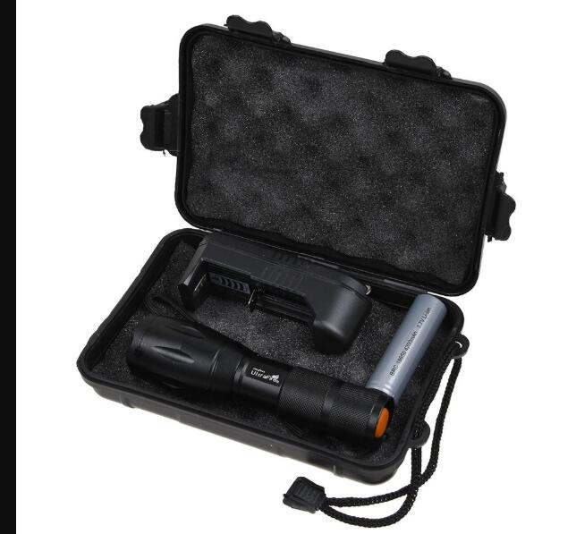 Waterproof Handheld Powerful LED Torch Zoomable Flashlight
