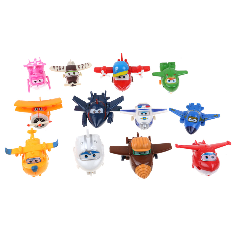 12PCS Super Aircraft General Mobilization Toys