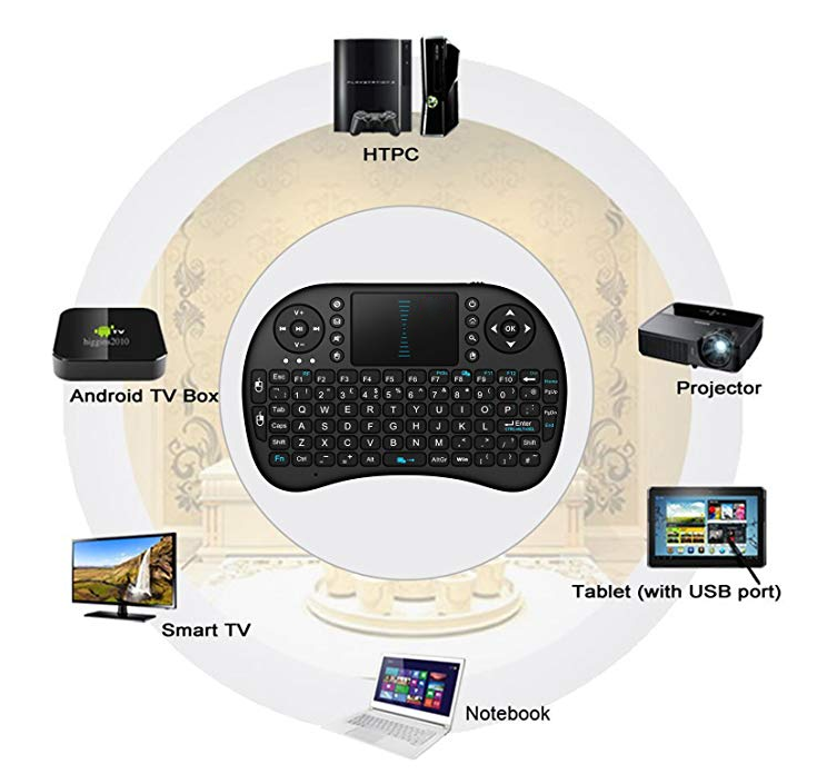 Mini i8 Wireless Keyboard 2.4G with Touchpad fr PC Android TV Kodi Media Box