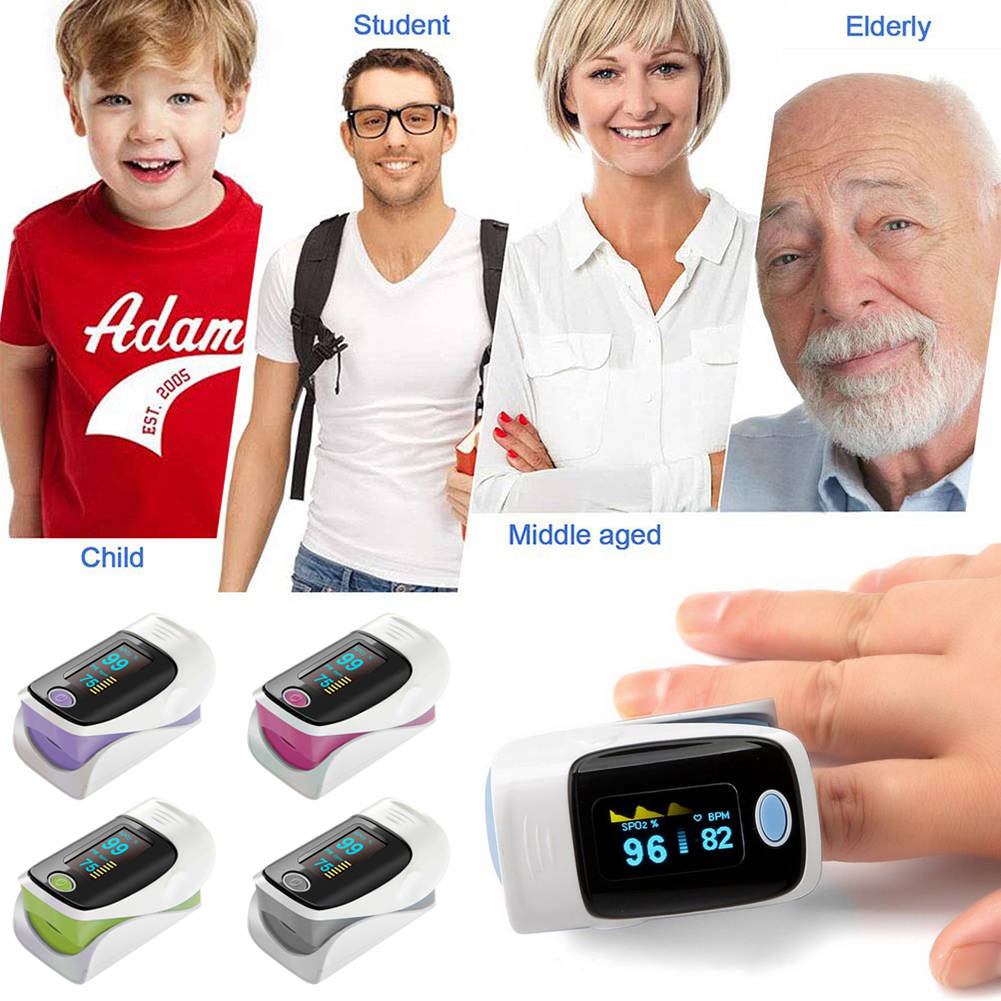 Blood Oxygen SpO2 Saturation Monitor OLED Display Fingertip Pulse Oximeter