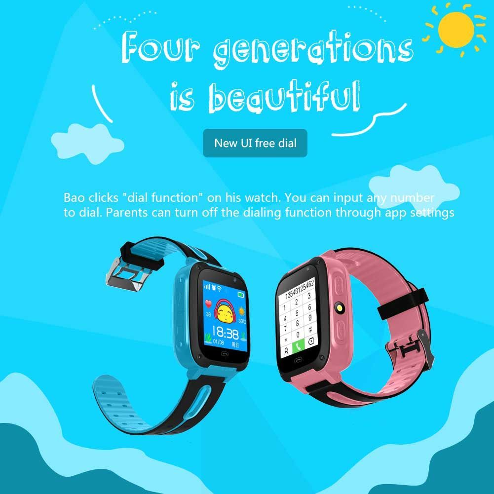 Kids Silicone Band USB3.0 Phone Call Alarm Step Counter Camera Smart Watch