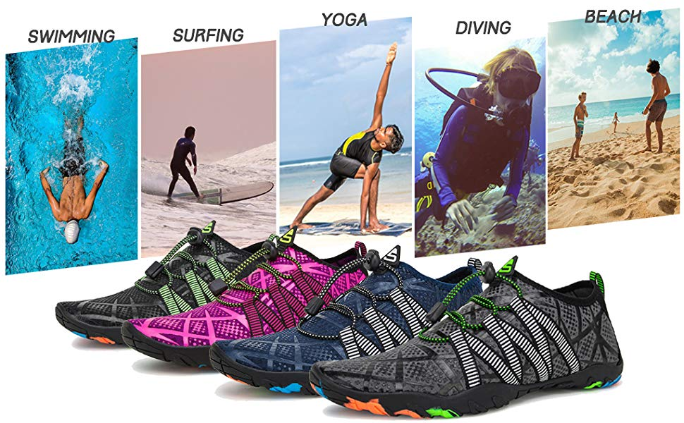 Unisex Water Shoes Beach Swim Shoes Quick Dry Aqua Socks