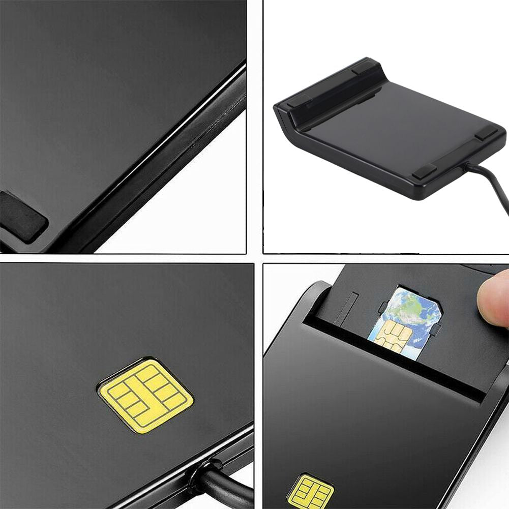 USB 2.0 Smart Card Reader CAC ID Bank Card Sim Card Cloner Connector