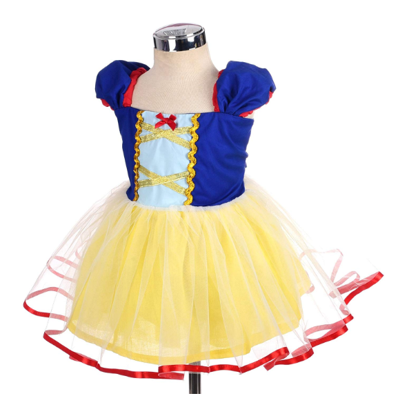 Inspired Snow White Princess Dress Up Costume Cosplay Party Tulle Tutu Dress