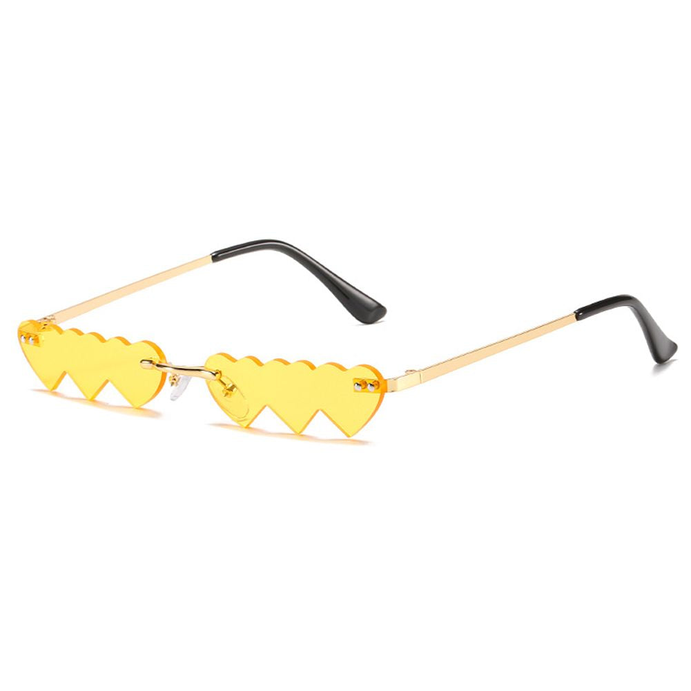 Fashion Rimless Heart Sunglasses
