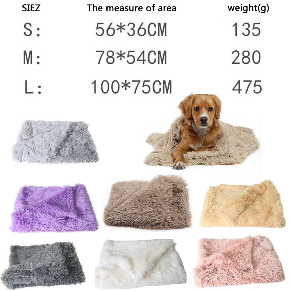 Extra Large S-L Soft Blanket Cosy Warm Pet Dog Cat Animal Blanket Throw Mat