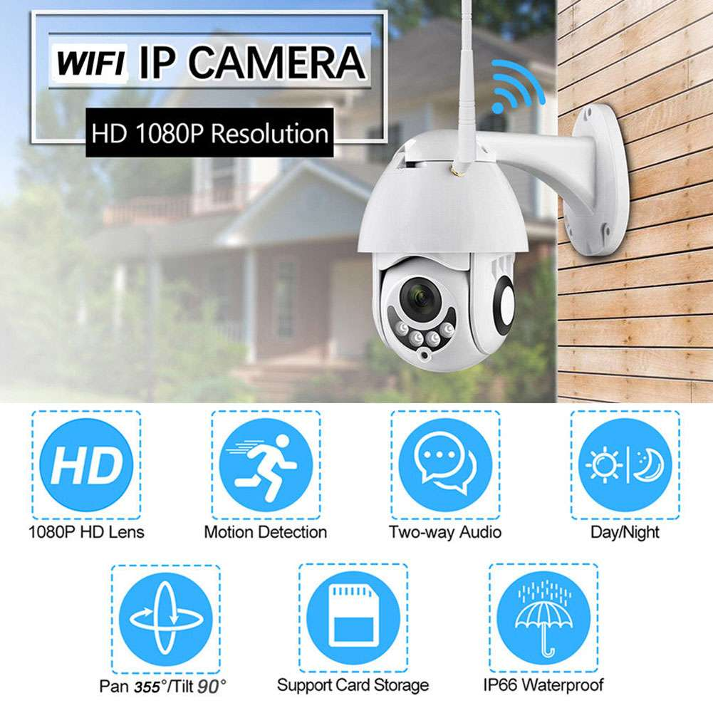 1080P Wireless WIFI IP Camera Night Vision Home Security Two-way Voice