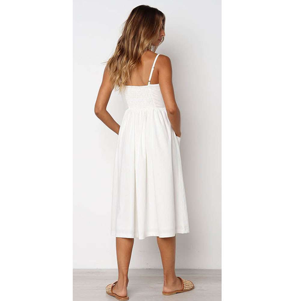 Women's Summer Boho Casual Long Beach Dress Sundress