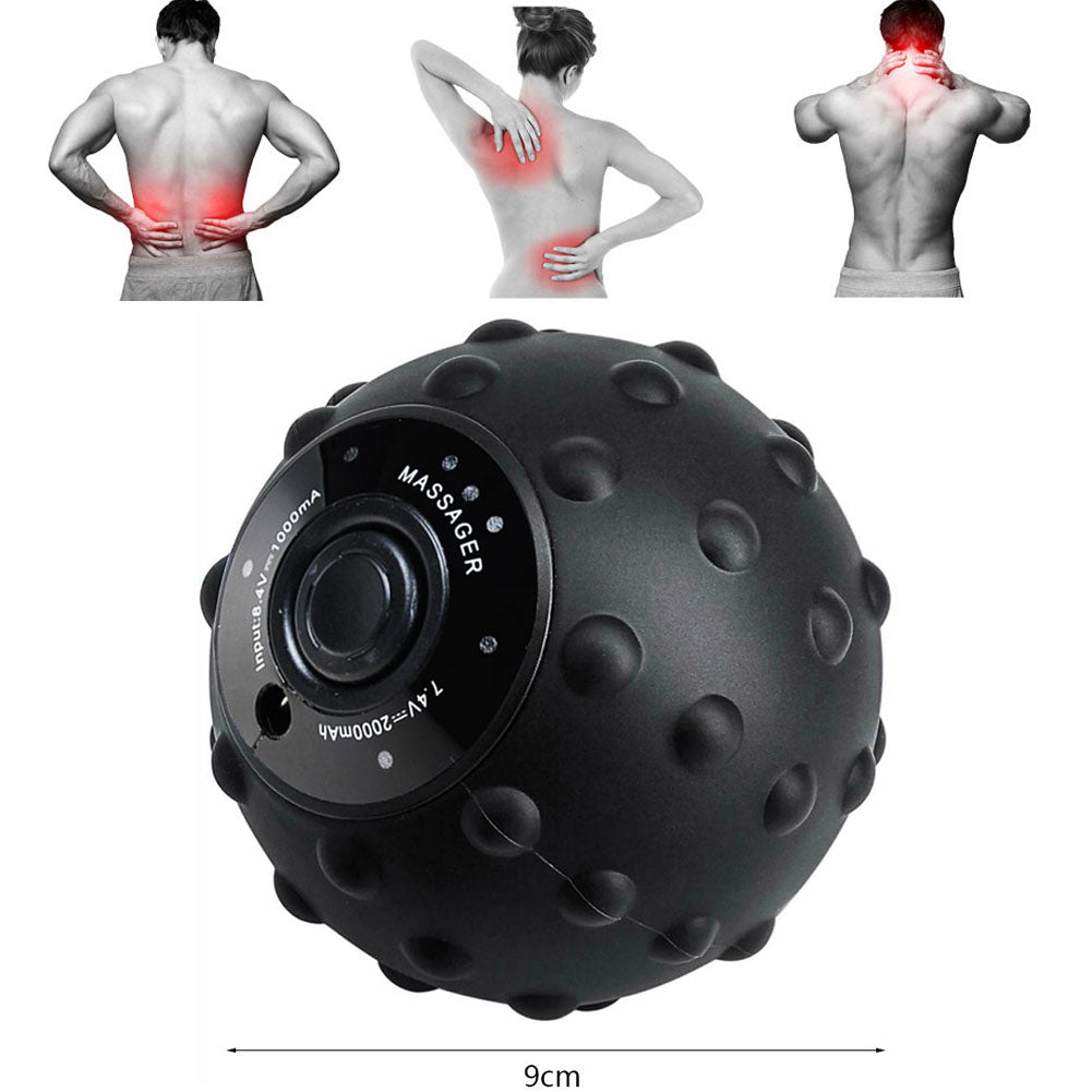 Vibrating Massage Ball 4 Speed High Intensity Yoga Fitness Electric Massage