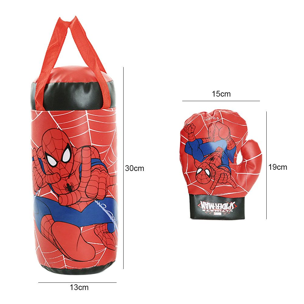 Kids Boxing Gloves Sandbag Set Spiderman Cosplay