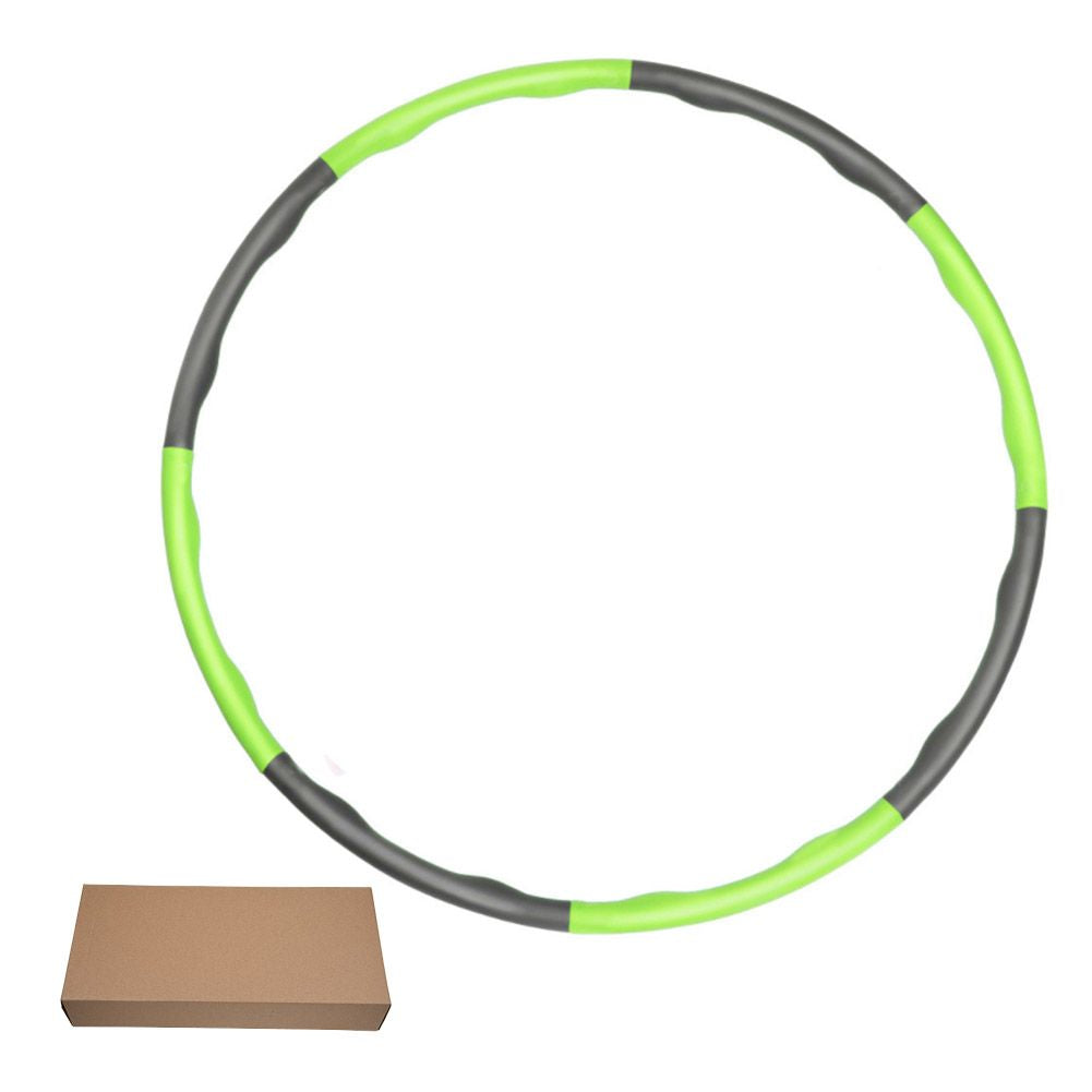 Weighted Gym Hula Hoop Fitness Workout Exercise Ring Foam Padded Massager