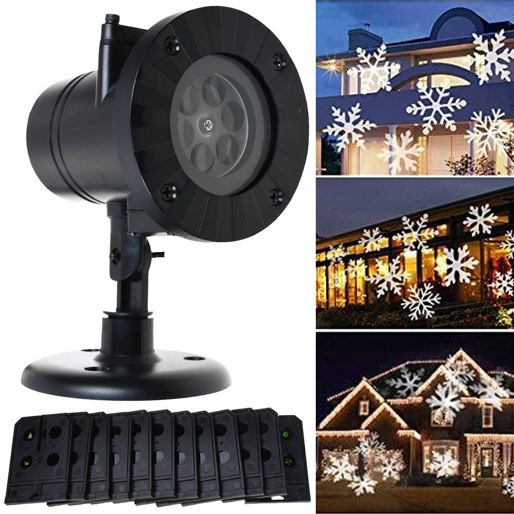 12 Patterns LED Light Laser Projector Landscape Lamp Outdoor Garden