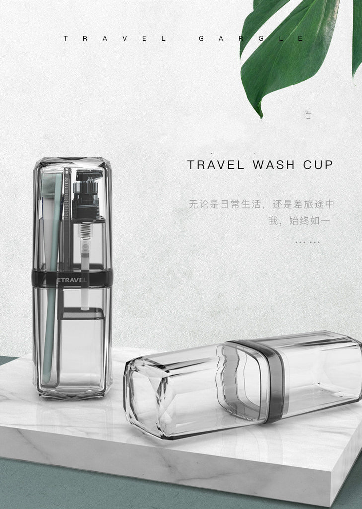 6 In 1  Multifunction Travel Mouthwash Cups Toothbrush Cup