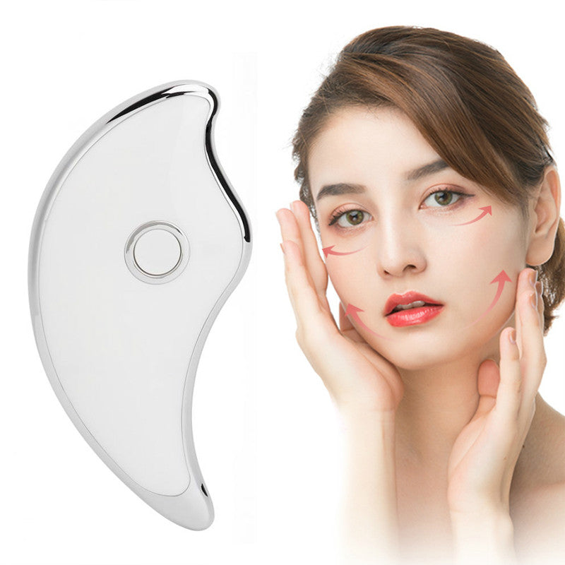 EMS Electric MicroCurrent Vibration Facial Lifting Ion Massager Scraping Board