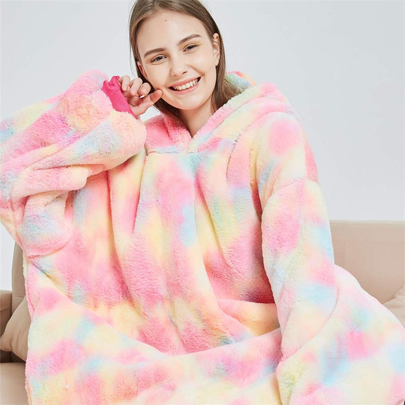 Oversized Unicorn Hoodie Wearable Blanket