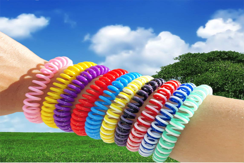 10 PACK Waterproof Natural Mosquito Insects Repellent Bracelet Bug Bands