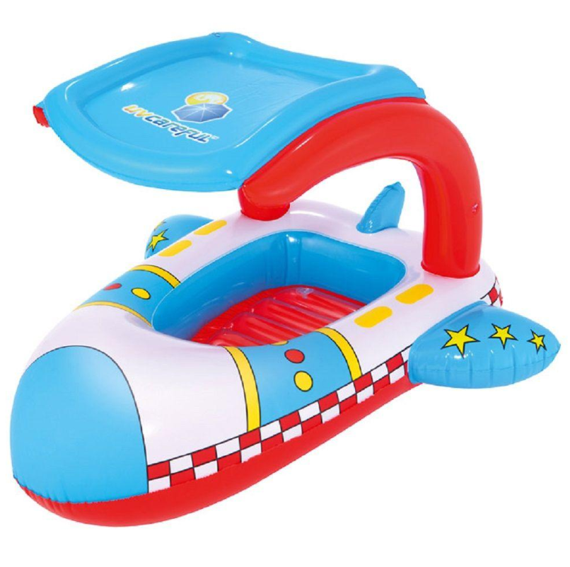 Inflatable Jet Rocket Pool Float for Kids