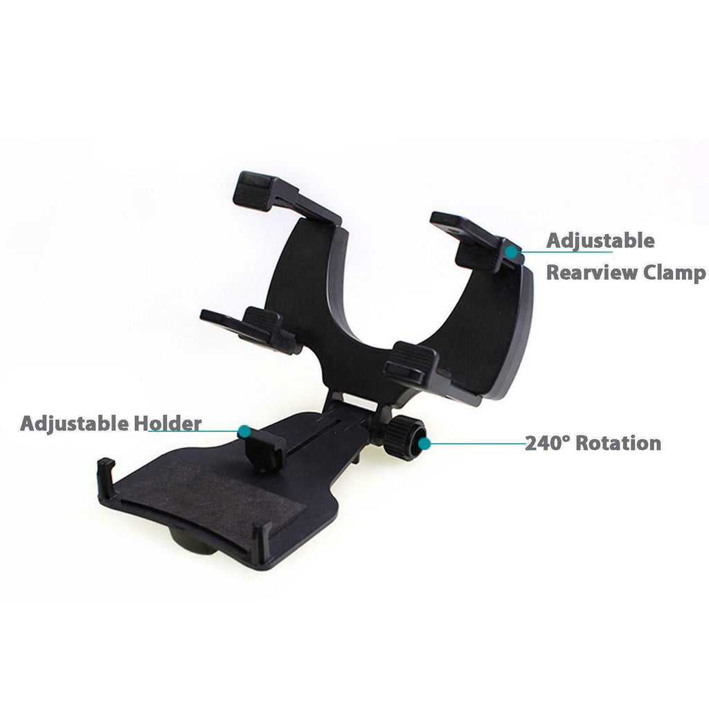 Universal Phone GPS Auto Rearview Mirror Mount Holder Clip