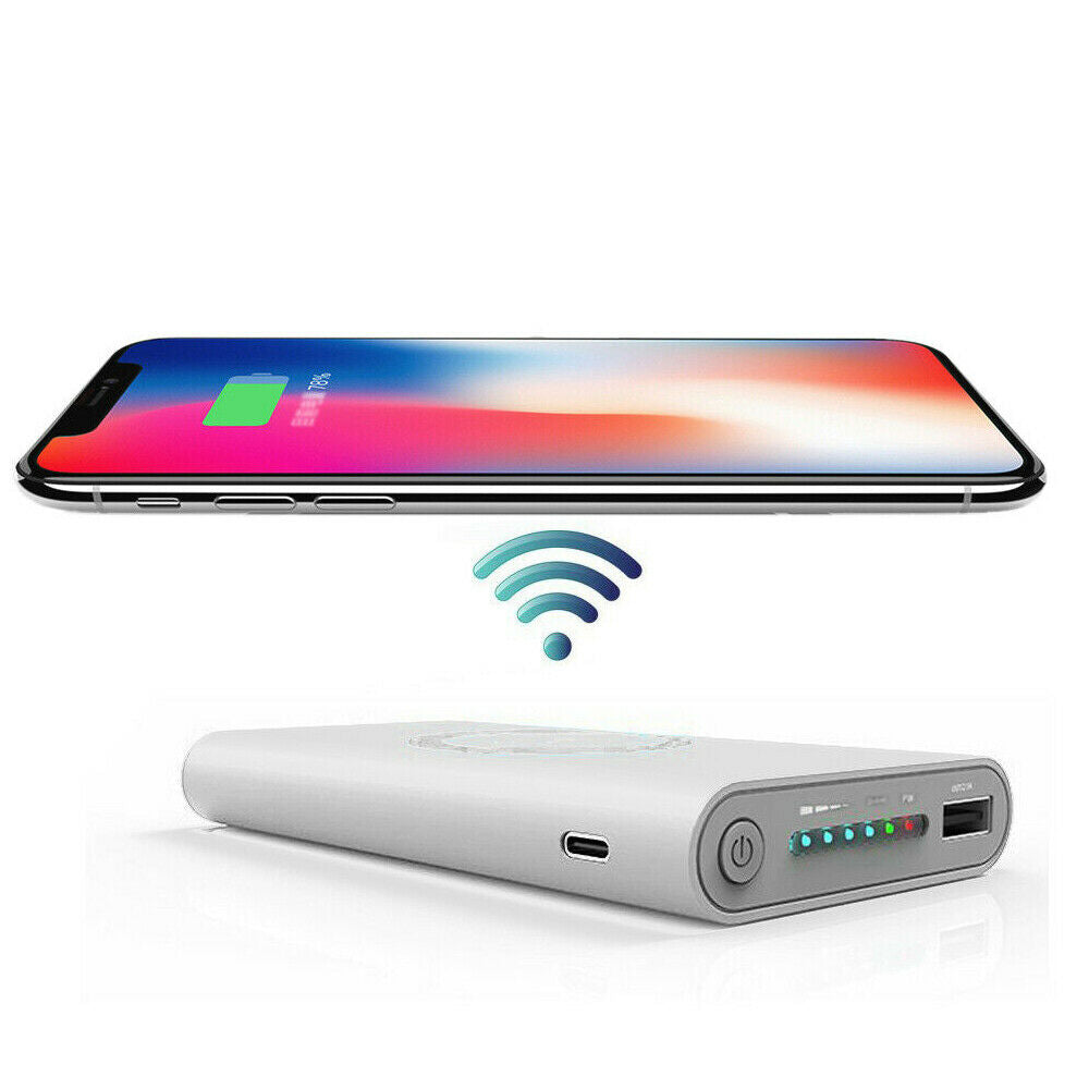 2 in 1 Fast Wireless Charger Dock Power Bank