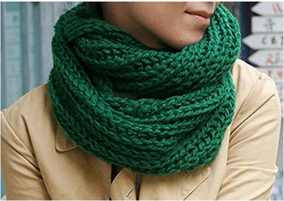 Warm Winter Knitted Collar Scarf Neck Scarves