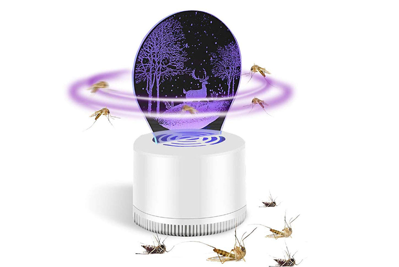Mosquito Bug Zapper Fly Insect Killer Lamp with 3D Illusion LED Lamp for Bedroom